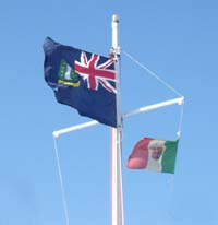 Papoose mast and flags