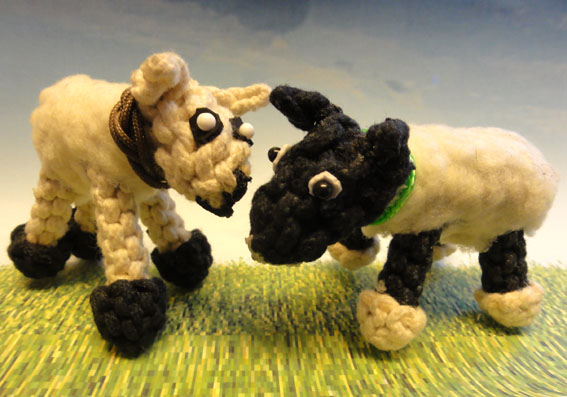 knotted animals sheep