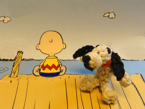 knotted snoopy with Charly Brown